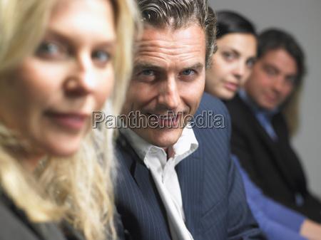 people looking at camera at a