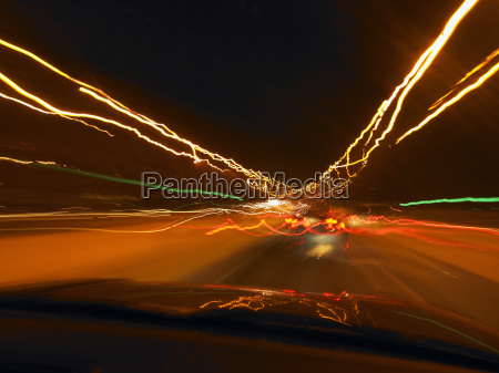 car lights effects in the night