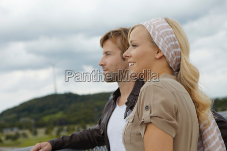 couple looking into the distance