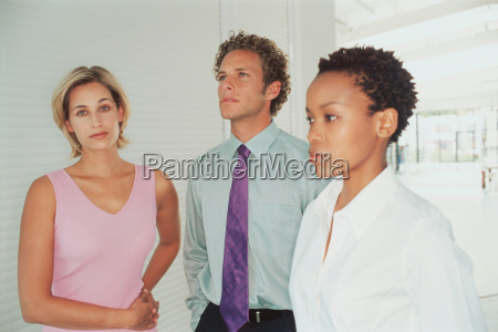 business people standing together