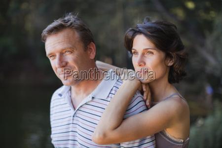 couple admiring view