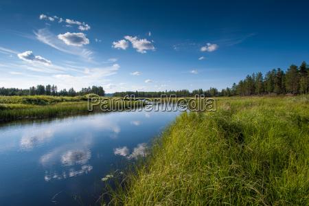 wolke reflexion schweden outdoor freiluft freiluftaktivitaet