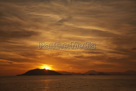 sunset over tranquil sea fethiye turkey