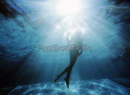 blau weiblich urlaub urlaubszeit ferien sonnenlicht