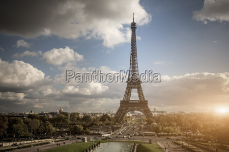 view of park and eiffel tower