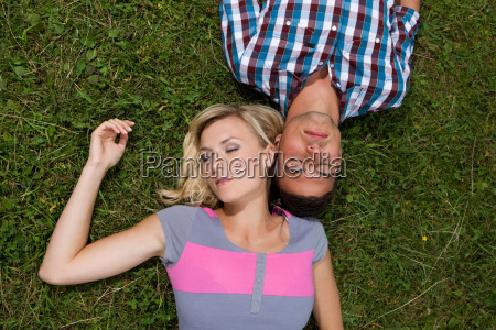 a young couple relaxing