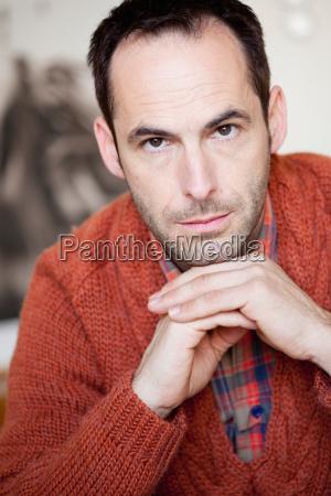 man looking at viewer