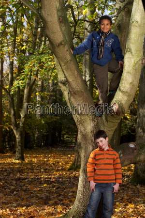 portrait of boys outdoors