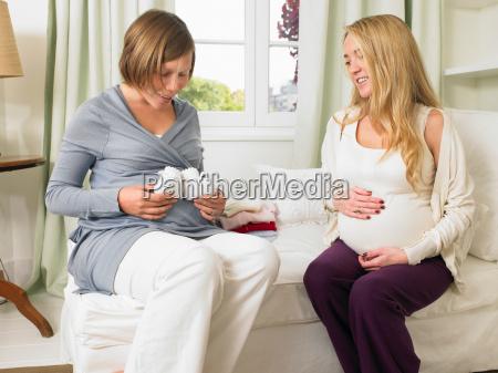 pregnant women in nursery