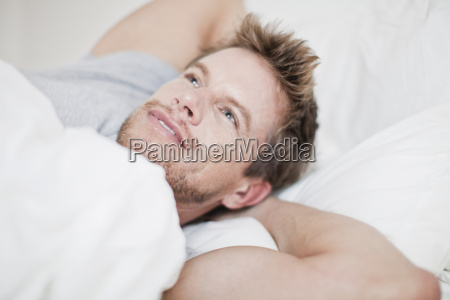 close up of man relaxing in