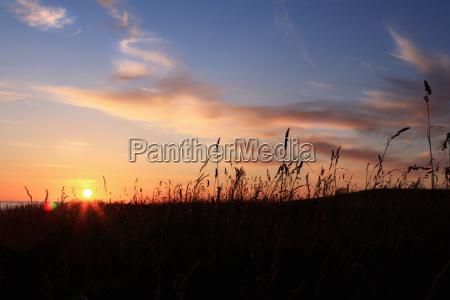 sunset in skane sweden