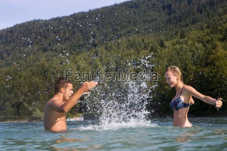 a couple having fun in the