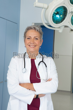 portrait of female doctor laughing