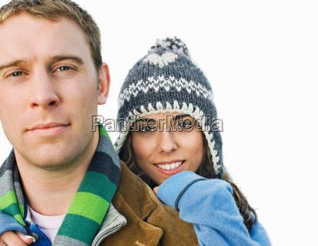 portrait of couple looking at camera