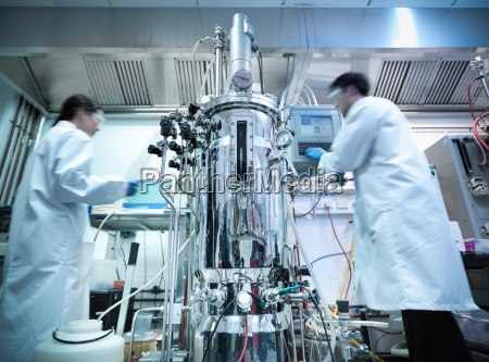scientists working in protein production where