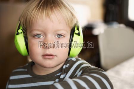 boy wearing headphones portrait