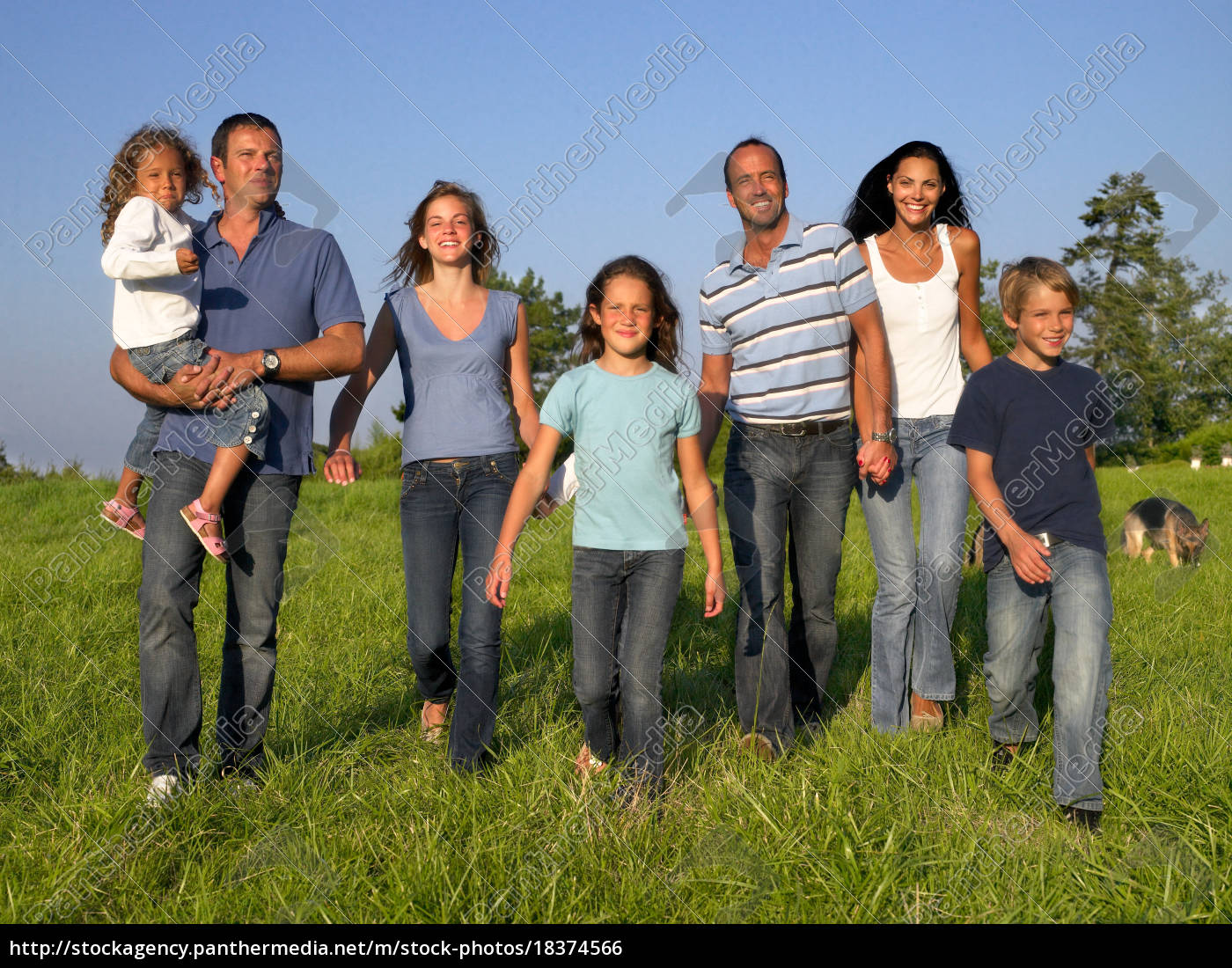 group, of, people, and, children, walking - 18374566