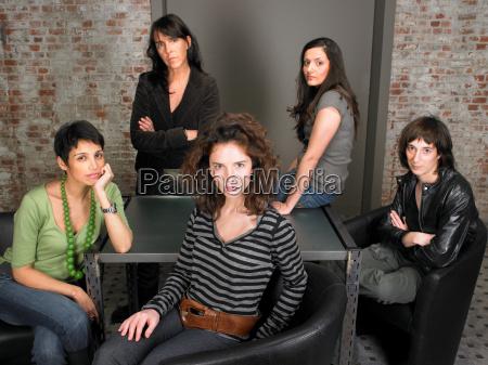 portrait of female business team