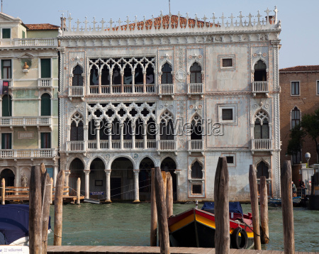ornate building on venice canal