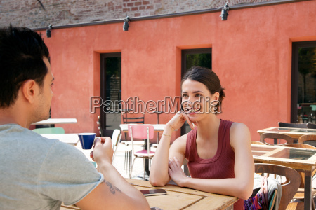 couple outside cafe florence tuscany italy