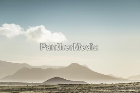 berge im abendnebelsnaefellsnesisland