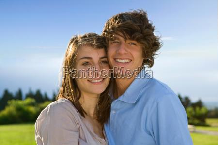 teen lovers portrait