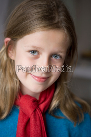 portrait of 9 year old girl
