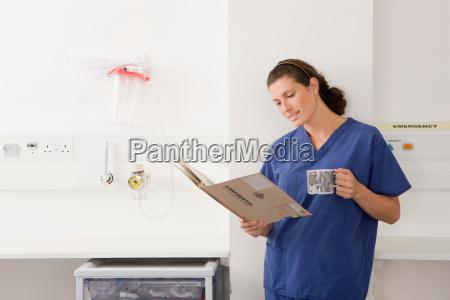 a female doctor on her break