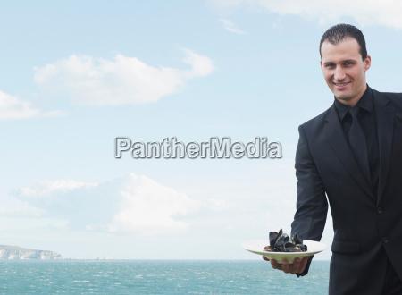 man smiling to camera