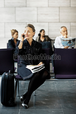 woman with a suitcase on the