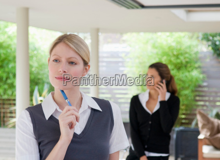 two female business associates