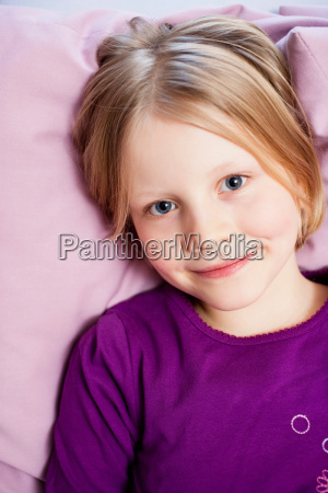 young girl on couch portrait