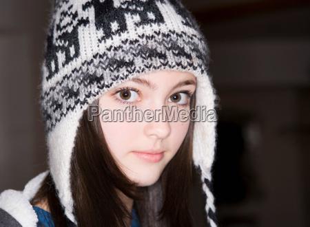 girl 14 wearing hat