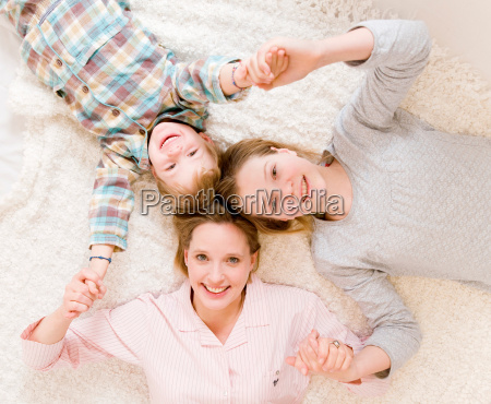 pregnant woman girl and boy on