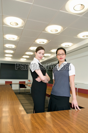 two young dynamic business women