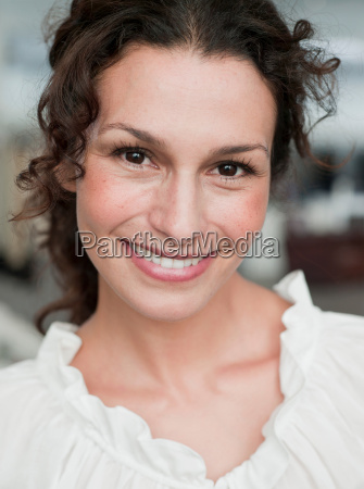 woman shopping smiling at viewer