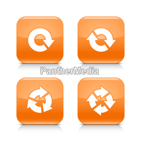 orange icon refresh reload rotation wiederholung