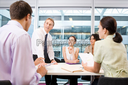 a corporate business meeting