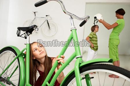 girl dreaming of bike