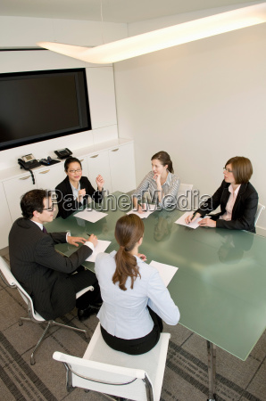 a portrait of a business meeting