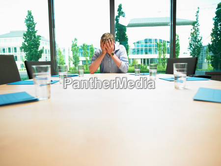 business man in a empty conference