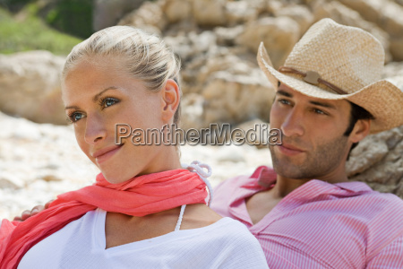 portrait of a young beach couple