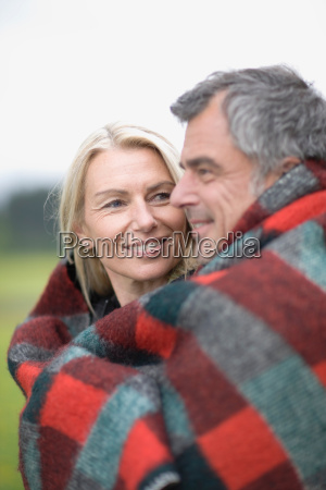 couple in blanket