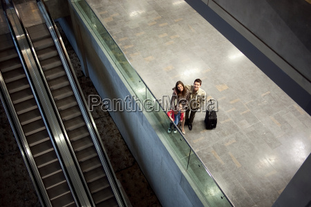 portrait of a family at airport