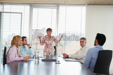 group of business people in meeting