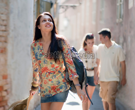 young people travelling together
