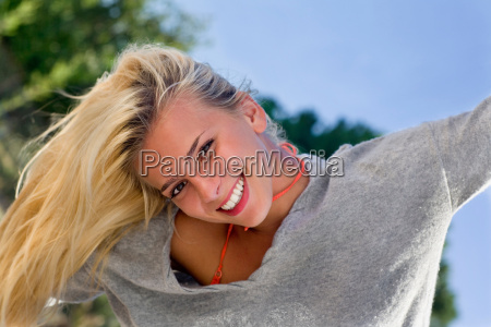 young woman beauty fresh smile portrait