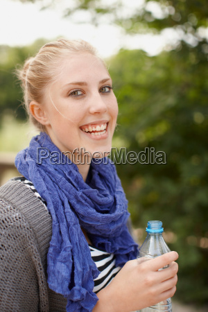 young girl smiling at camera with