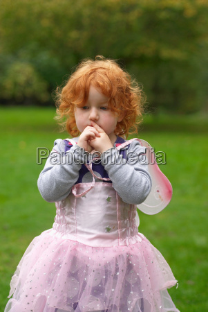 young girl in fairy outfit in