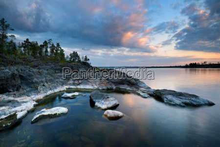 view of ladoga lake from iso